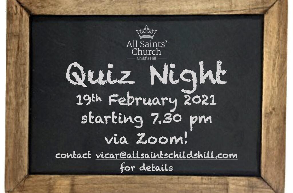 Zoom Quiz Night